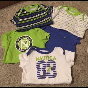 Baby boy Nautica Onesies